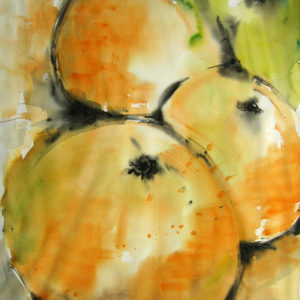 orange gruen