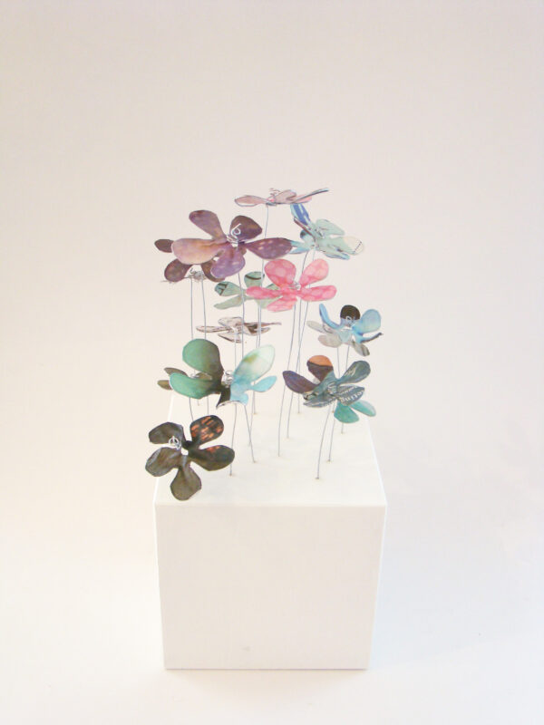 Drahtobjekt Blumen